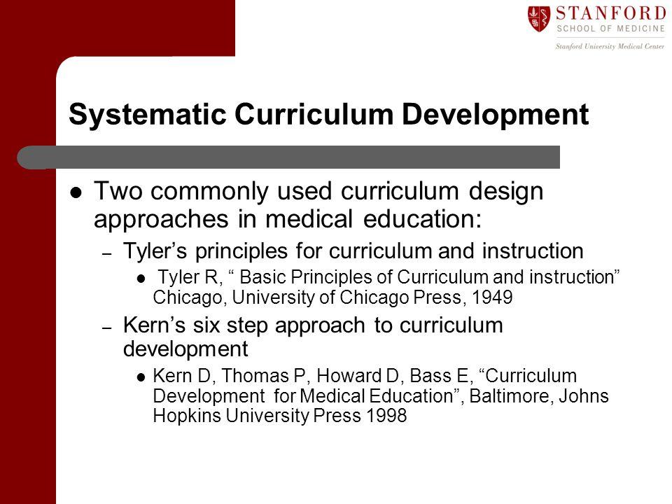 Systematic Curriculum Development