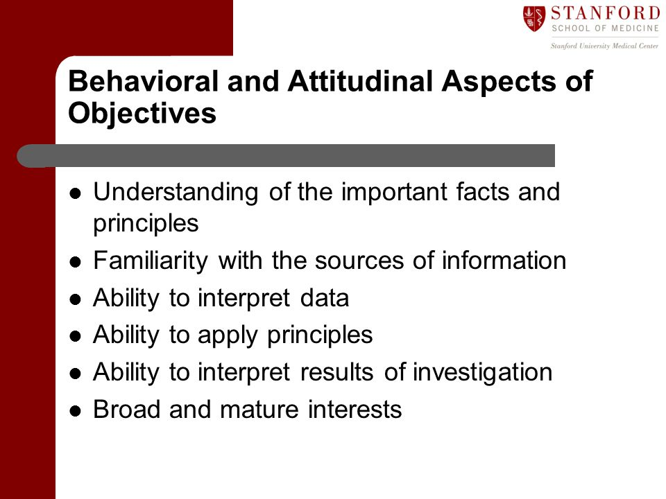 Behavioral and Attitudinal Aspects of Objectives