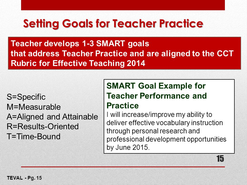 Setting Goals for Teacher Practice