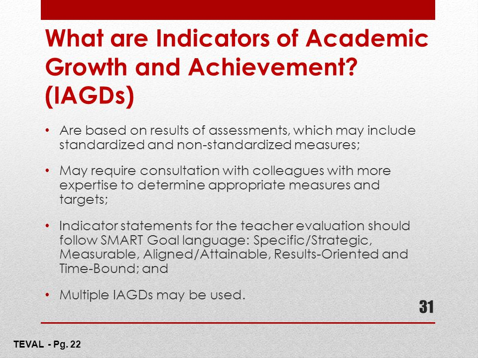 What are Indicators of Academic Growth and Achievement (IAGDs)