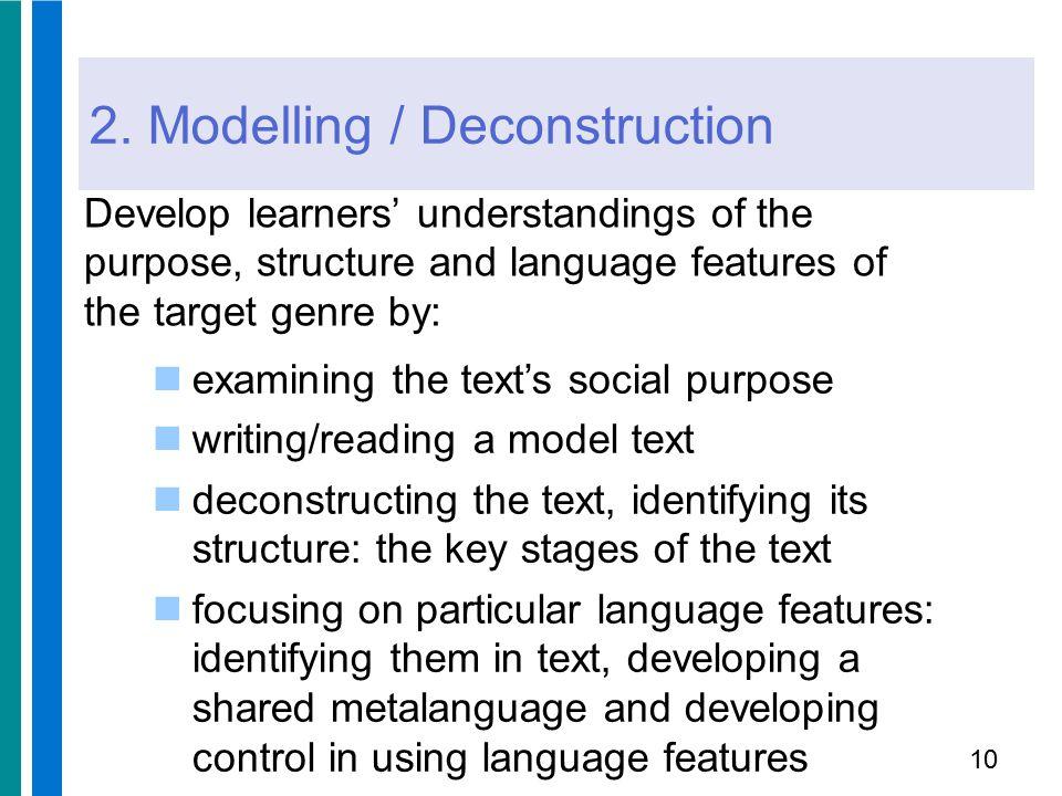 2. Modelling / Deconstruction
