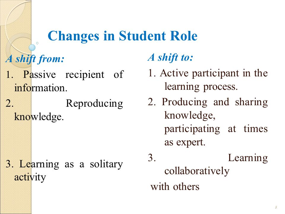 Changes in Student Role