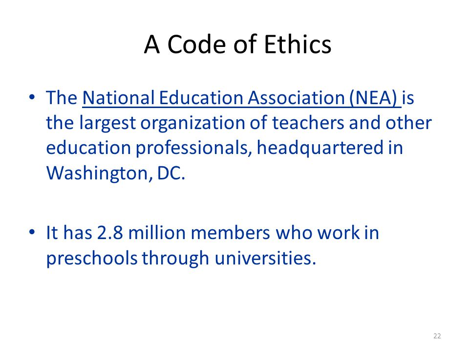 A Code of Ethics