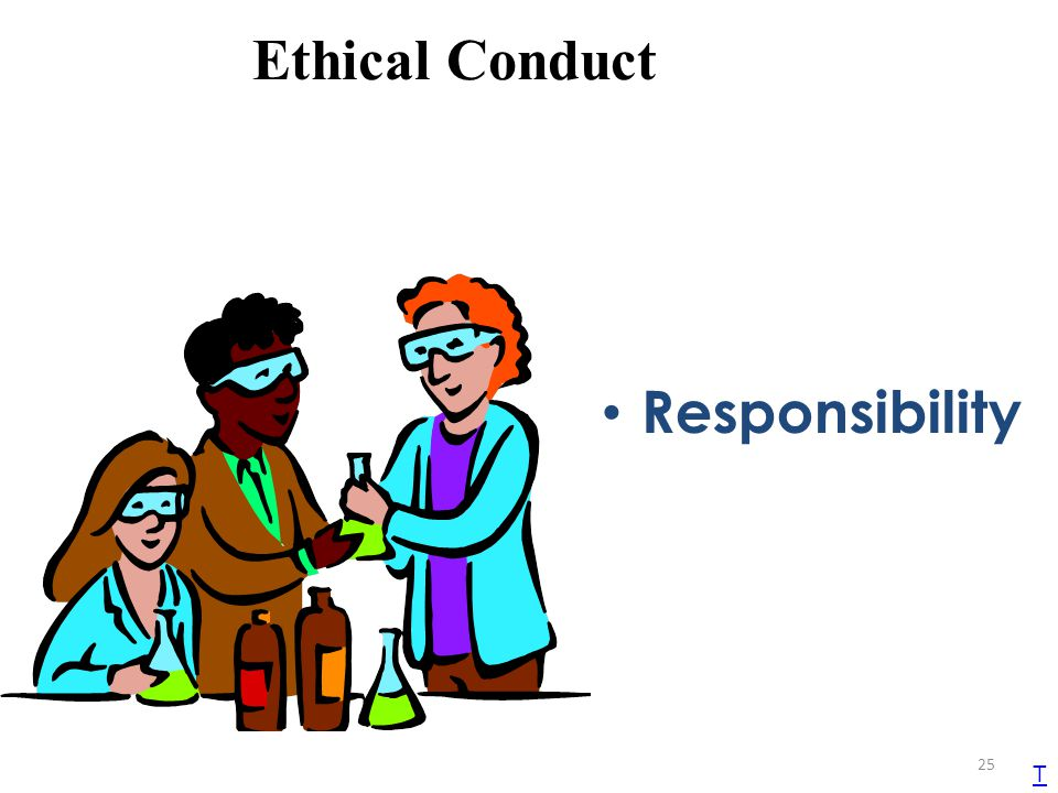 Ethical Conduct Responsibility T TEKS 1B