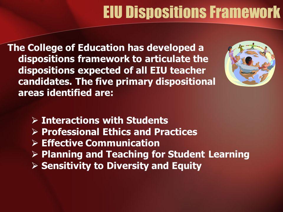 EIU Dispositions Framework