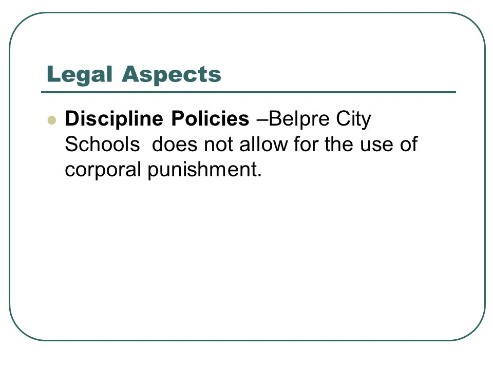 Parental use of corporal punishment on
