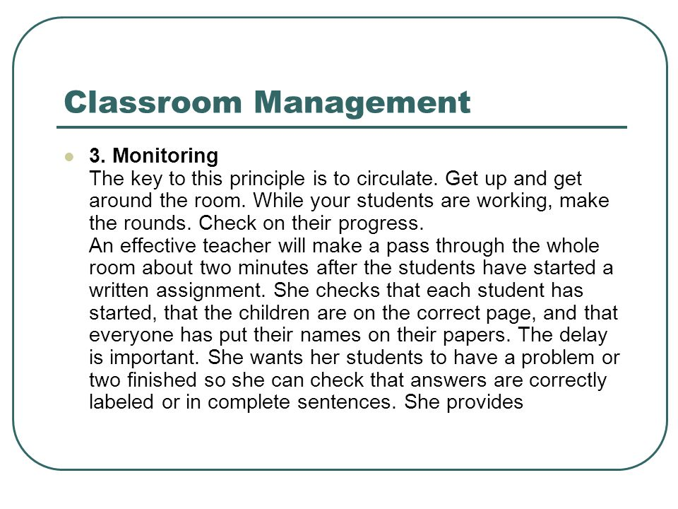 principles of classroom management essay Educators have been aware that behavior problems can keep students from  experiencing the benefits of a productive classroom.