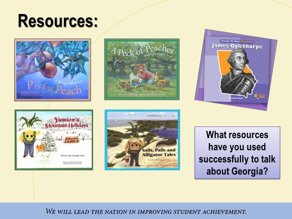 What resources have you used successfully to talk about Georgia