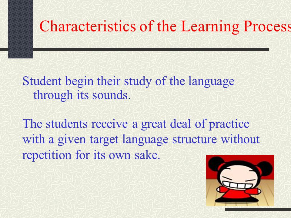 Characteristics of the Learning Process