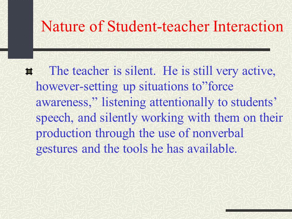 Nature of Student-teacher Interaction