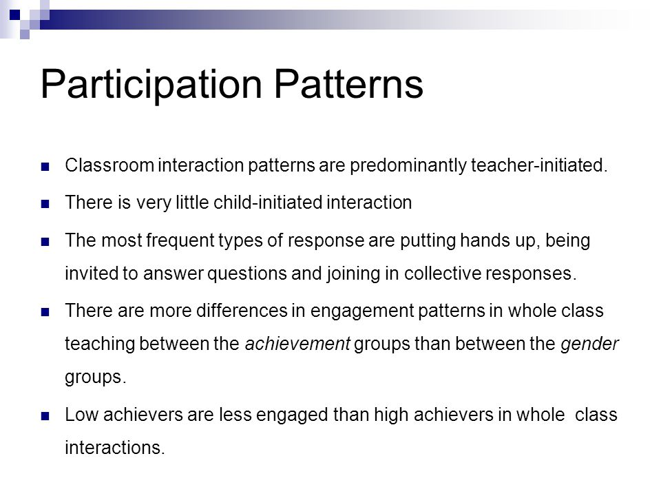 Participation Patterns