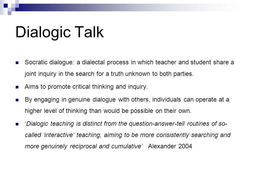 Dialogic Talk