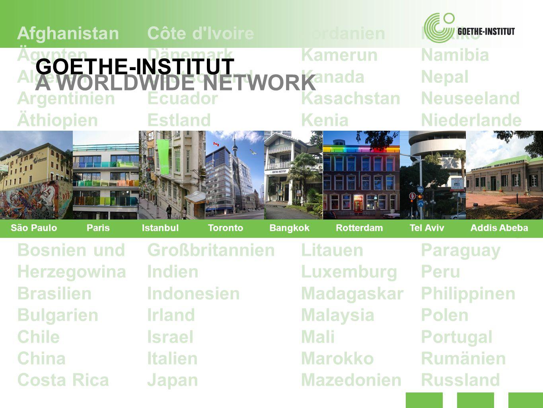 GOETHE-INSTITUT A WORLDWIDE NETWORK