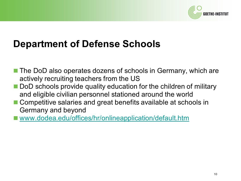 Department of Defense Schools