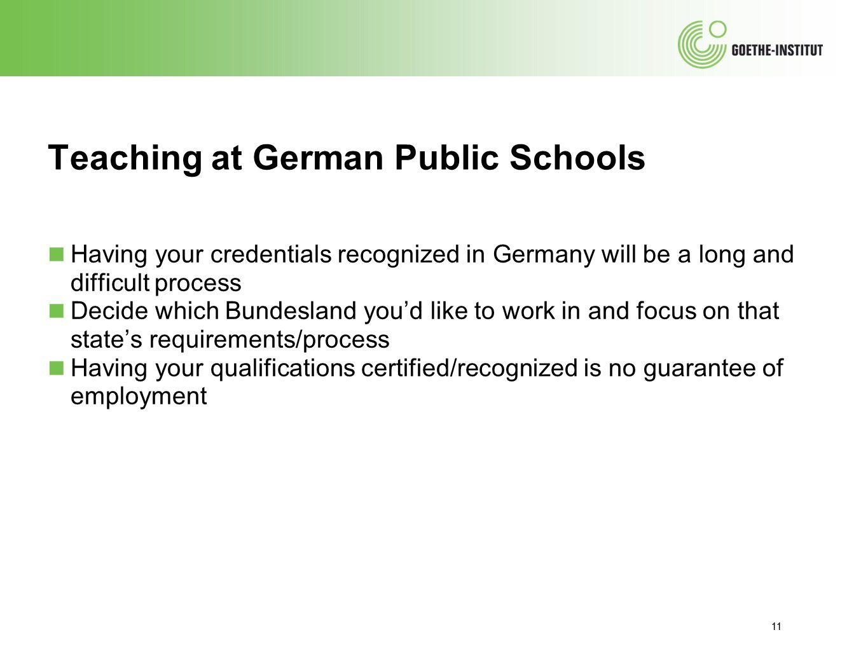 Teaching at German Public Schools