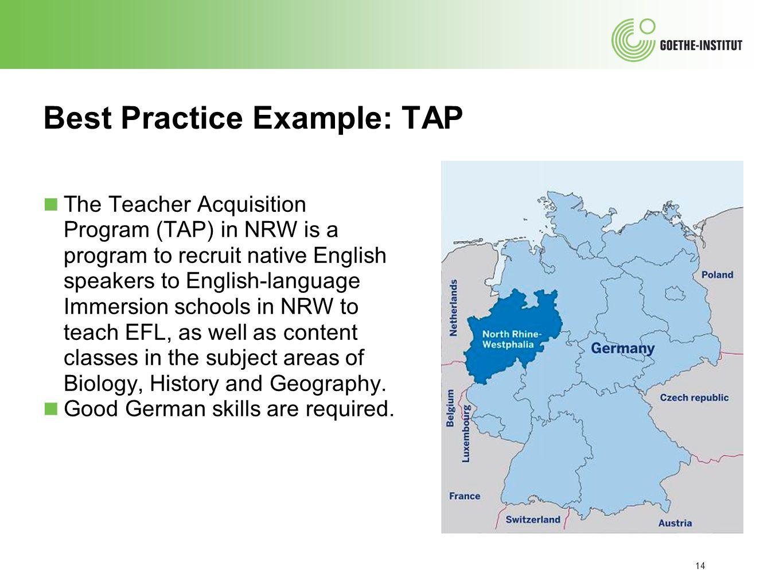 Best Practice Example: TAP