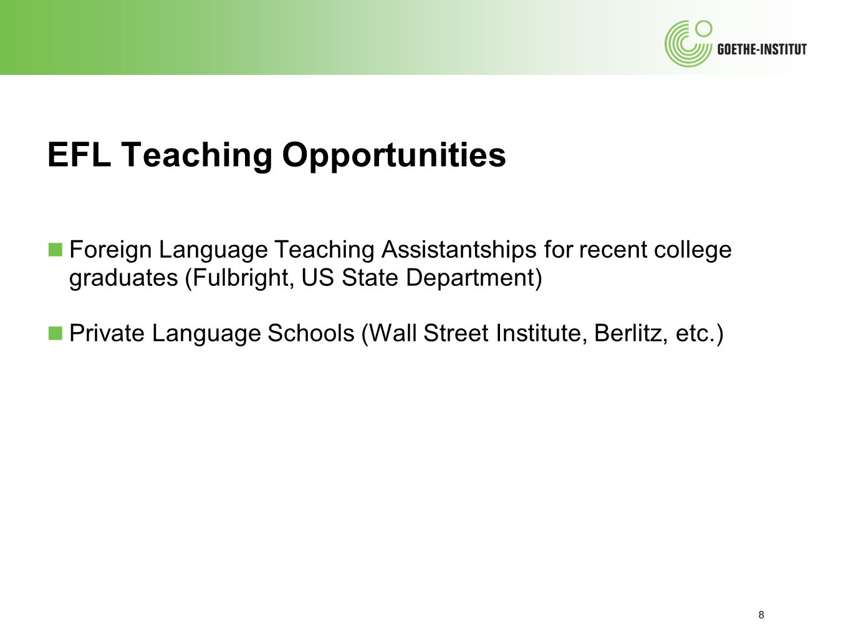 EFL Teaching Opportunities