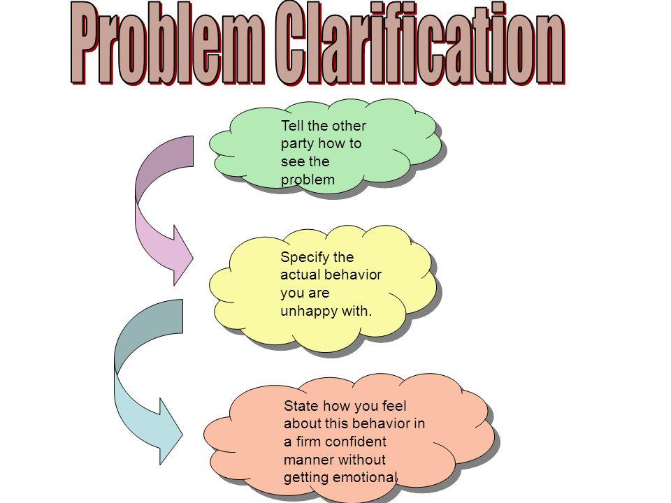 Problem Clarification