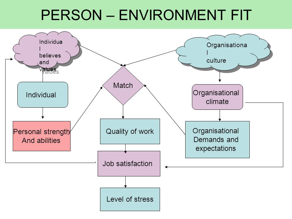 PERSON – ENVIRONMENT FIT