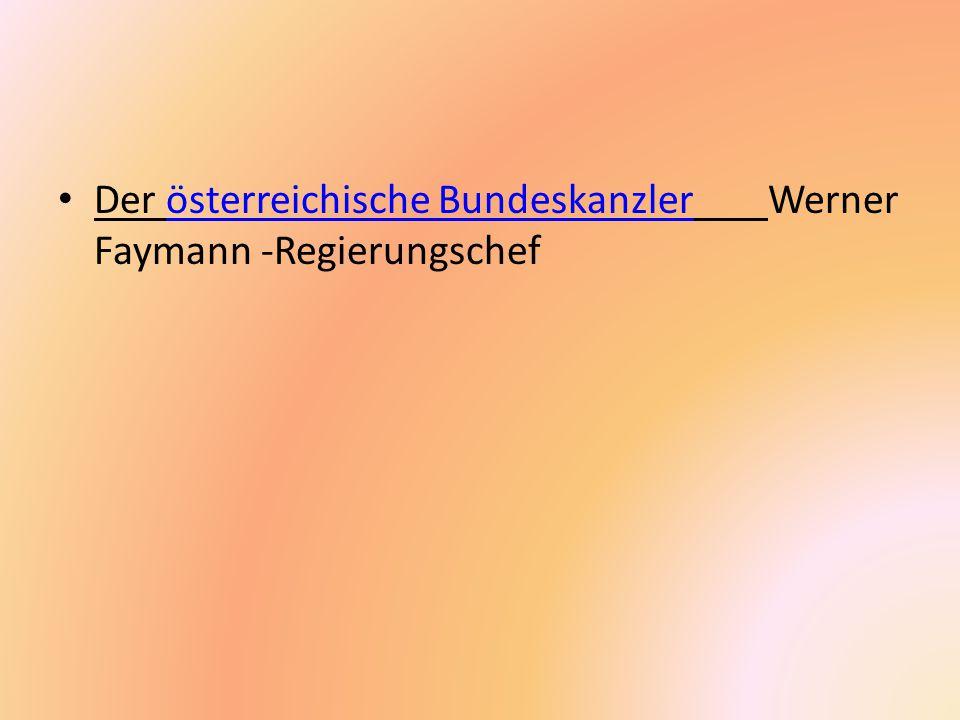 Der österreichische Bundeskanzler Werner Faymann -Regierungschef