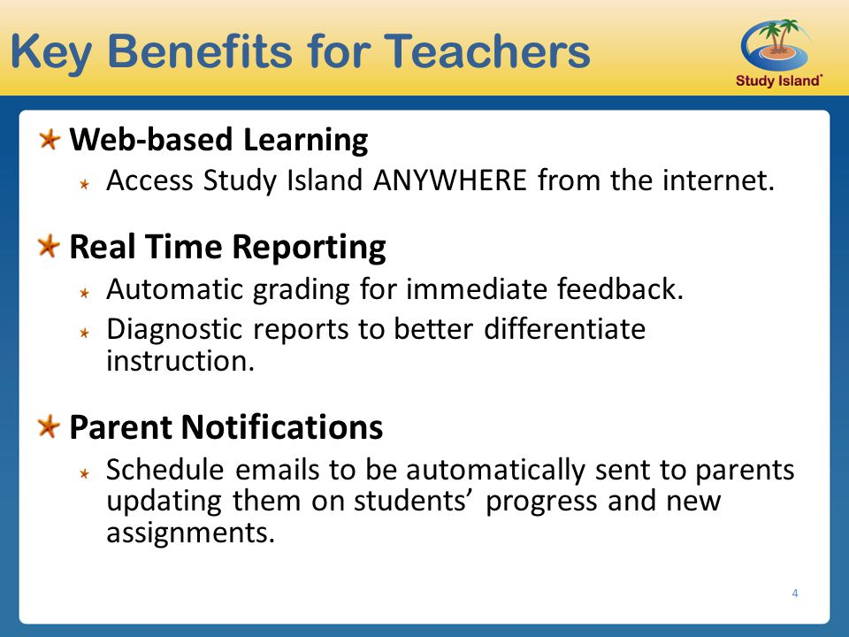 Key Benefits for Teachers