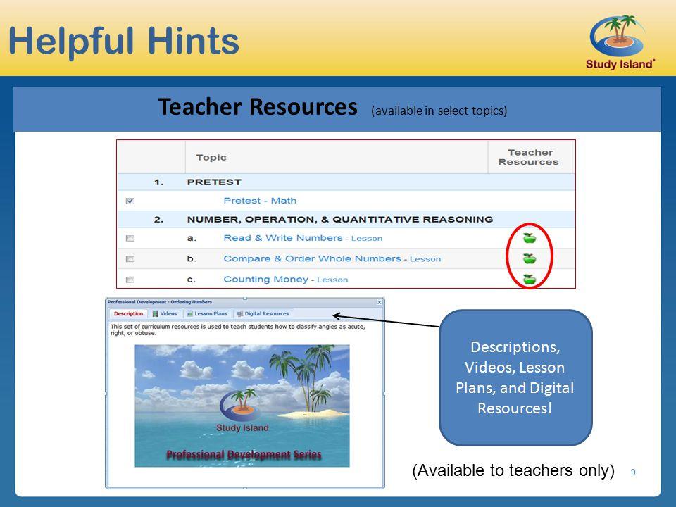 Descriptions, Videos, Lesson Plans, and Digital Resources!
