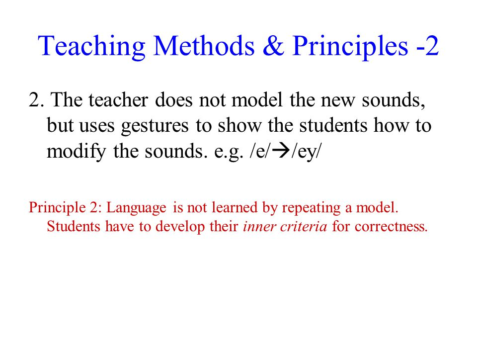 Teaching Methods & Principles -2