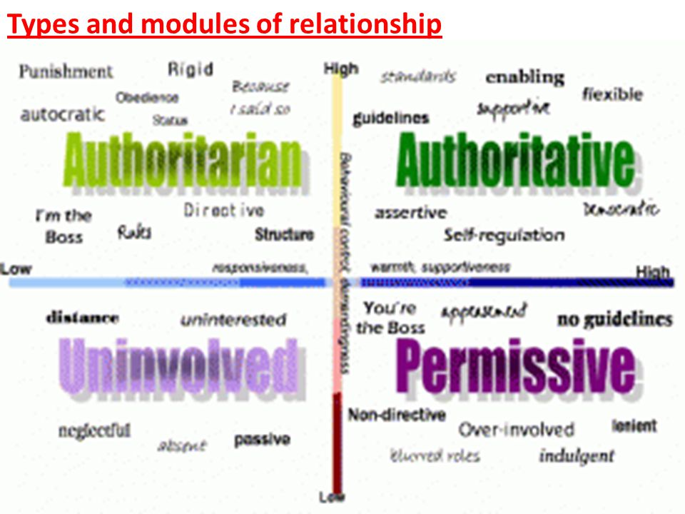 Types and modules of relationship