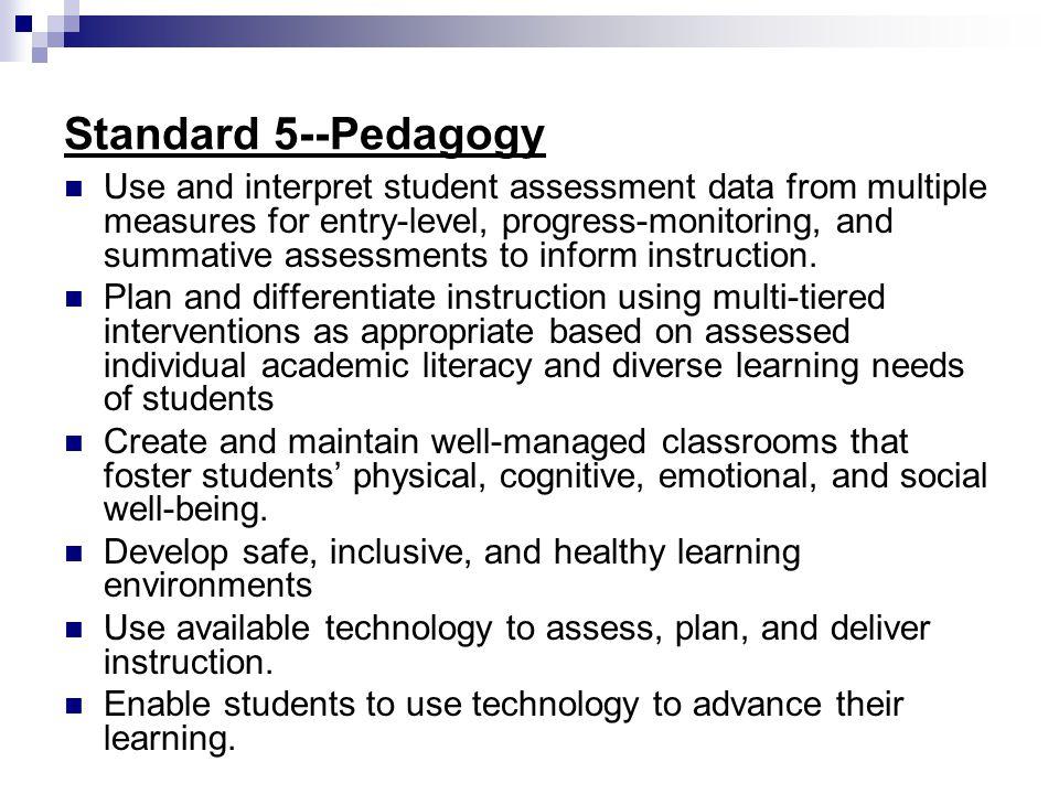 Standard 5--Pedagogy