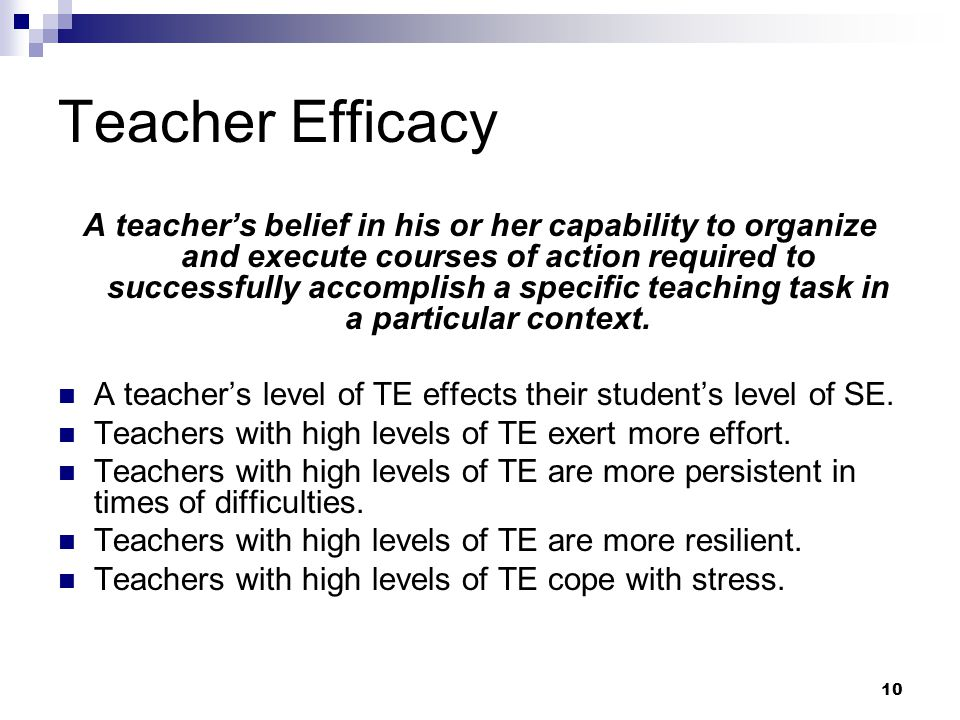 Teacher Efficacy