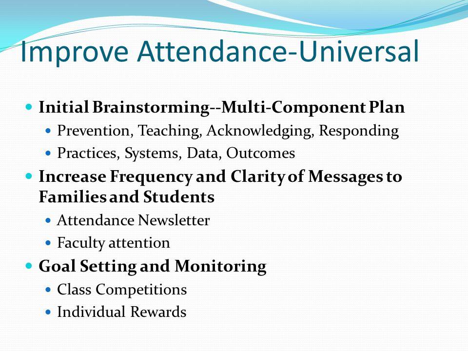 Improve Attendance-Universal