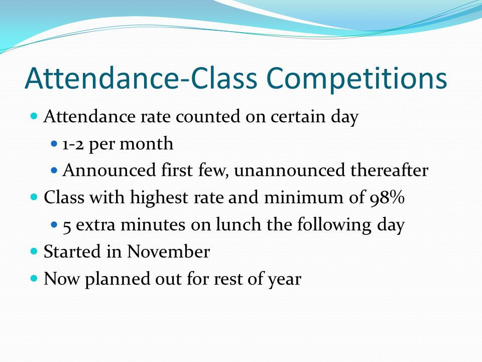 Attendance-Class Competitions