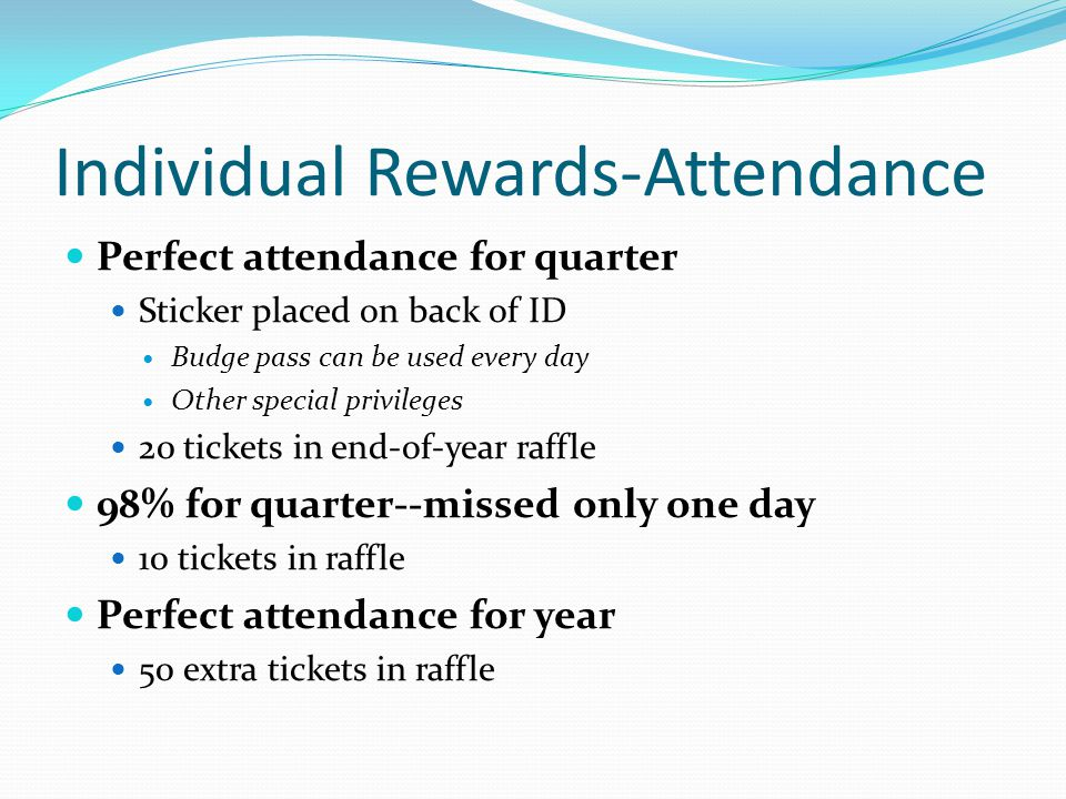 Individual Rewards-Attendance