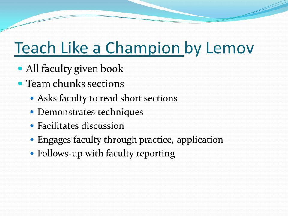 Teach Like a Champion by Lemov