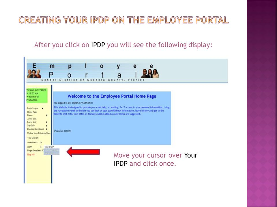Creating your ipdp on the employee portal