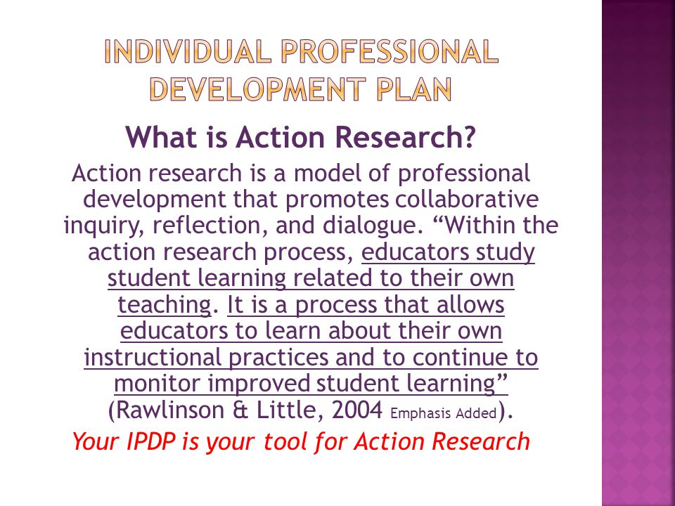 The Individual Professional Development Plan - Ppt Video Online
