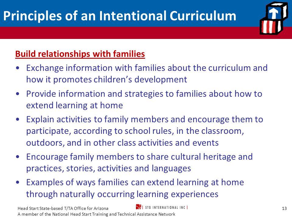 Principles of an Intentional Curriculum