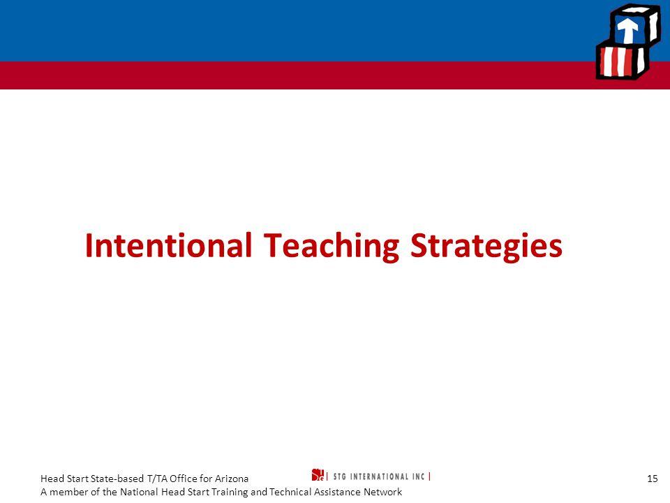 Intentional Teaching Strategies