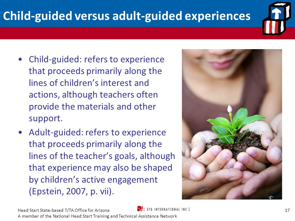 Child-guided versus adult-guided experiences