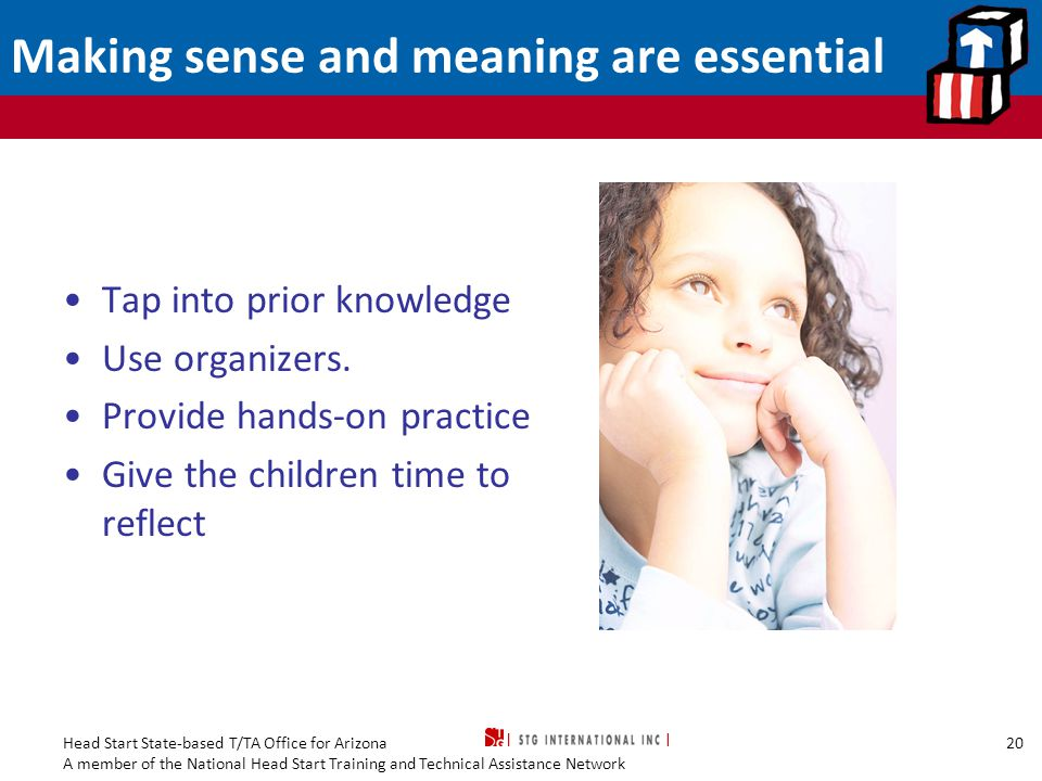 Making sense and meaning are essential