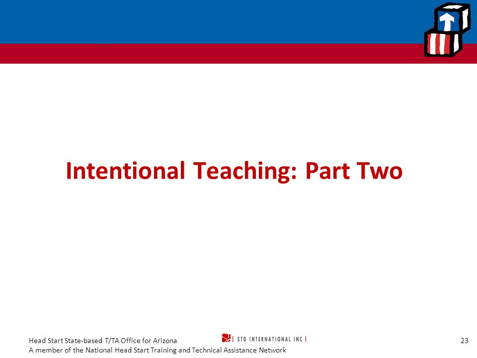 Intentional Teaching: Part Two