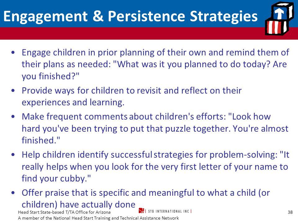 Engagement & Persistence Strategies