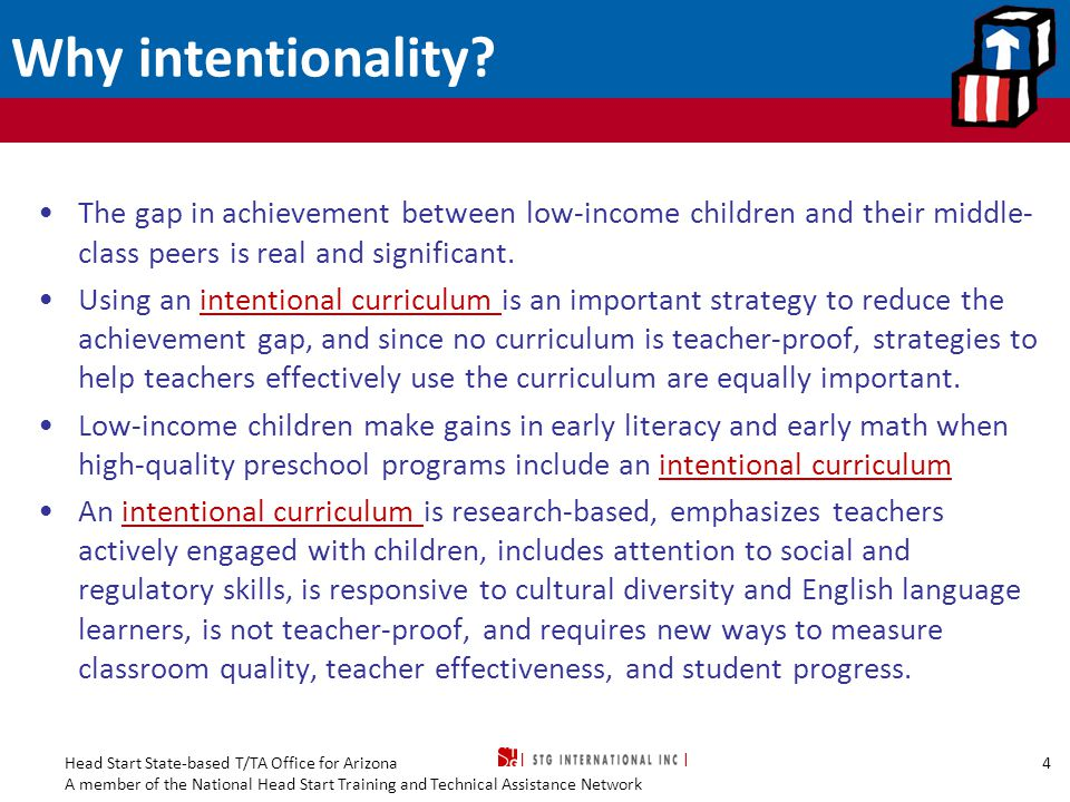 Why intentionality The gap in achievement between low-income children and their middle-class peers is real and significant.