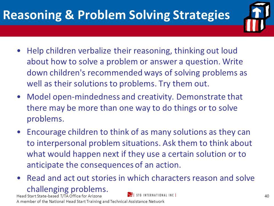 Reasoning & Problem Solving Strategies