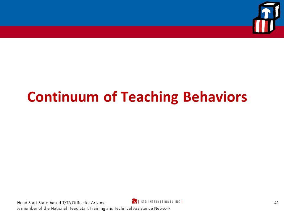 Continuum of Teaching Behaviors