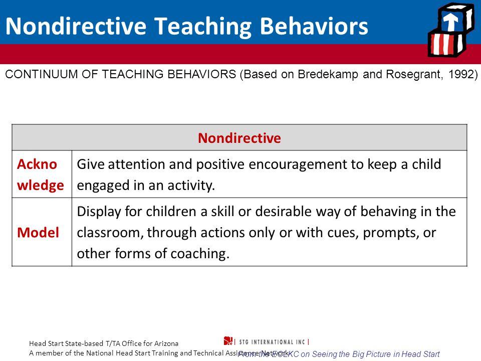 Nondirective Teaching Behaviors