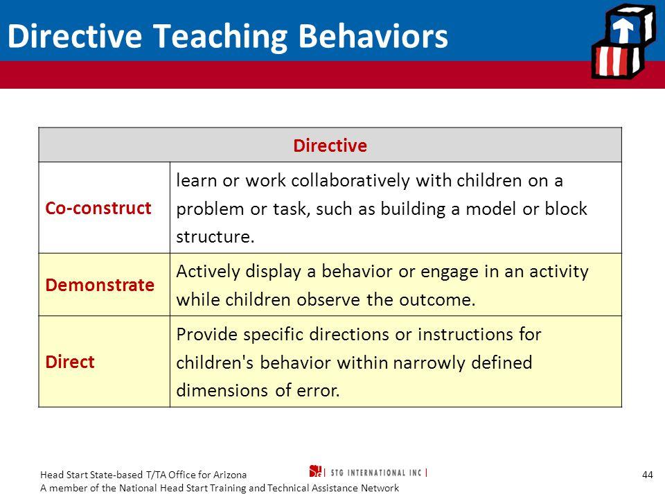 Directive Teaching Behaviors