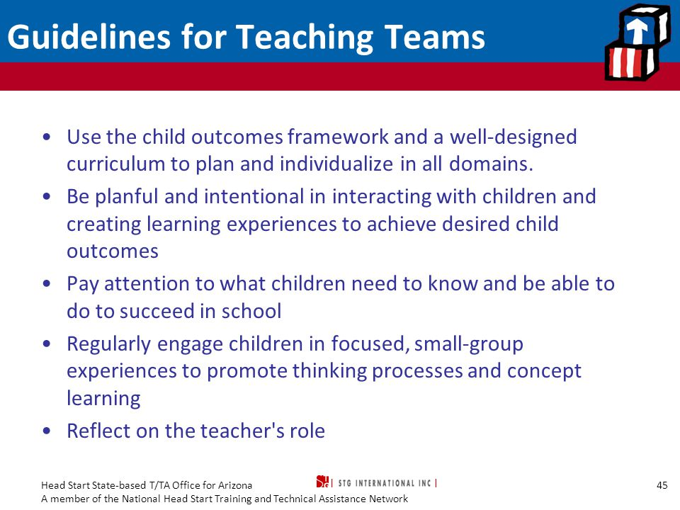 Guidelines for Teaching Teams