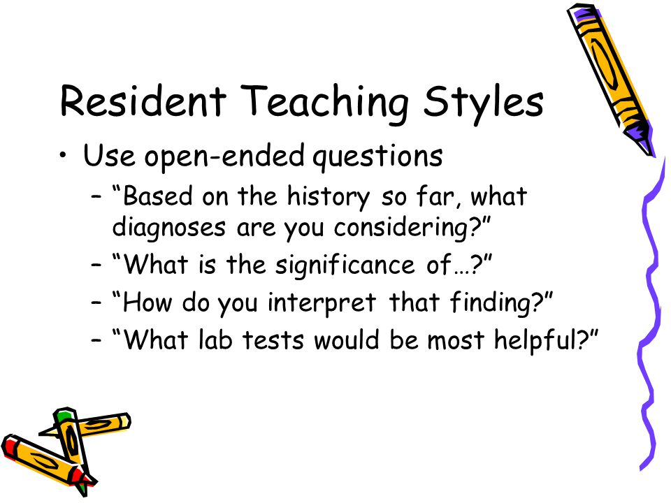Resident Teaching Styles