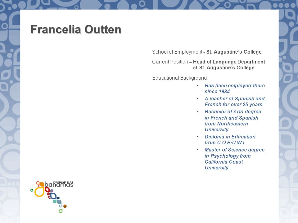 Francelia Outten School of Employment - St. Augustine's College